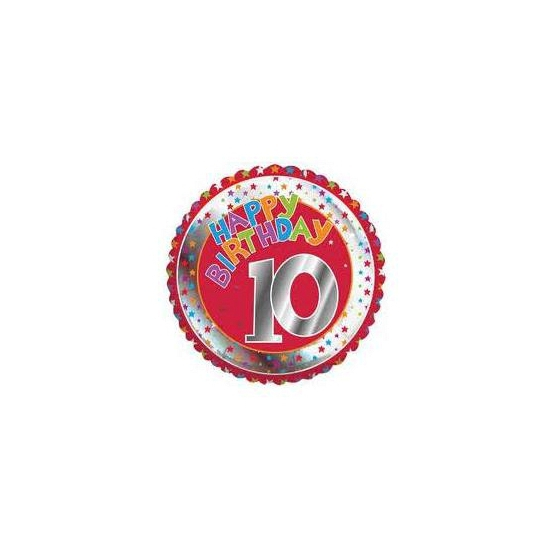 10 jaar helium ballon Happy Birthday