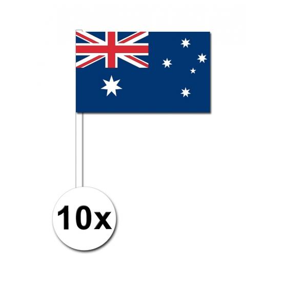 10 zwaaivlaggetjes Australische vlag