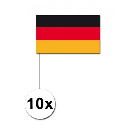 10 zwaaivlaggetjes Duitsland 12 x 24 cm