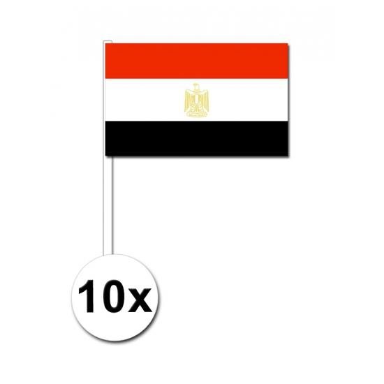10 zwaaivlaggetjes Egypte 12 x 24 cm