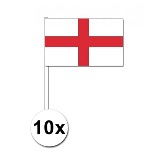 10 zwaaivlaggetjes Engeland 12 x 24 cm