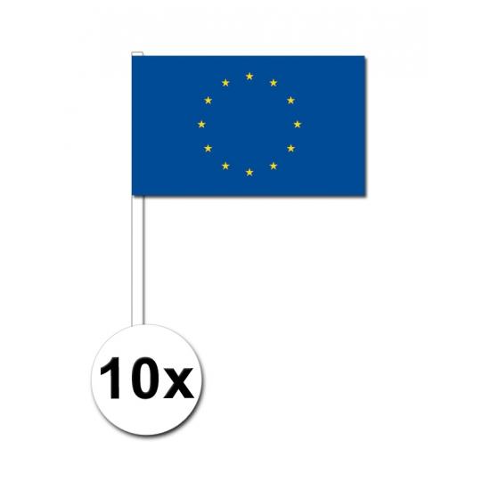 10 zwaaivlaggetjes Europa 12 x 24 cm