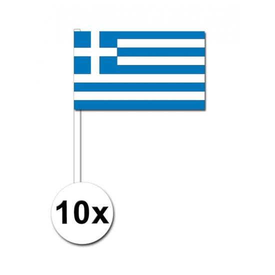 10 zwaaivlaggetjes Griekse vlag
