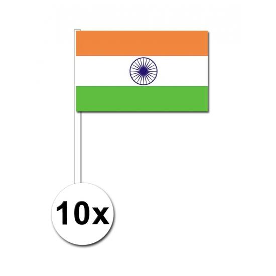 10 zwaaivlaggetjes India 12 x 24 cm