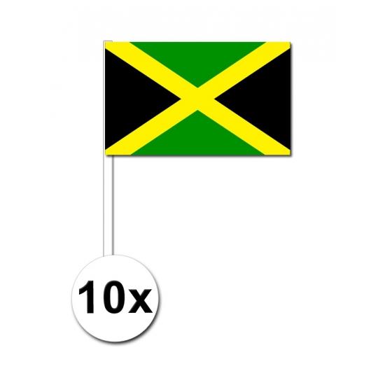 10 zwaaivlaggetjes Jamaicaanse vlag