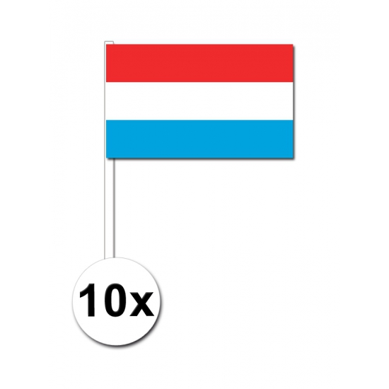 10 zwaaivlaggetjes Luxemburg 12 x 24 cm