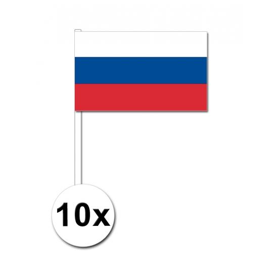 10 zwaaivlaggetjes Russische vlag