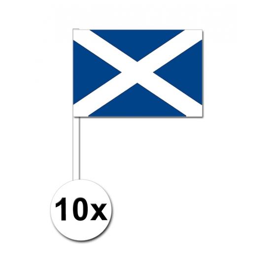 10 zwaaivlaggetjes Schotland 12 x 24 cm