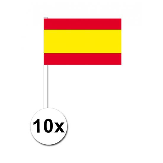 10 zwaaivlaggetjes Spanje 12 x 24 cm
