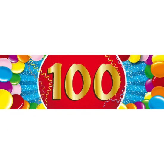 100 jaar sticker