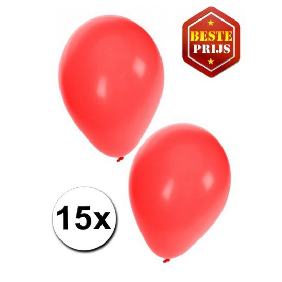 15 Rode decoratie ballonnen