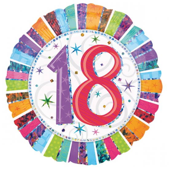 18 jaar folieballon
