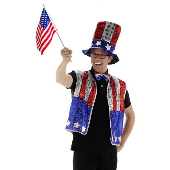 3 delige Amerika verkleedset
