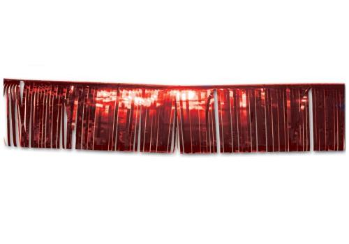 3 meter lange glitter slingers rood 2 stuks