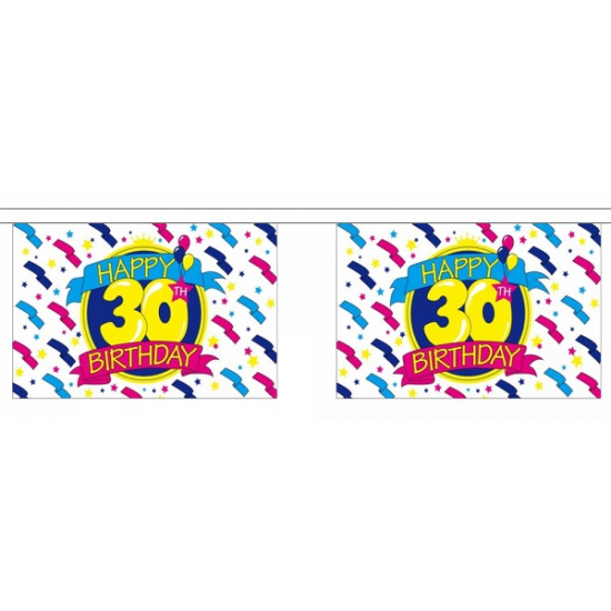 30e verjaardag luxe vlaggenlijn