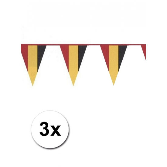 3x Belgische vlaggenlijn