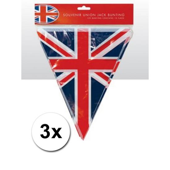 3x Union jack vlaggenlijnen