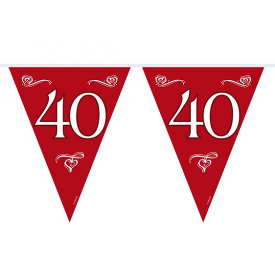 40 jaar decoratie vlaggenlijn 10 meter