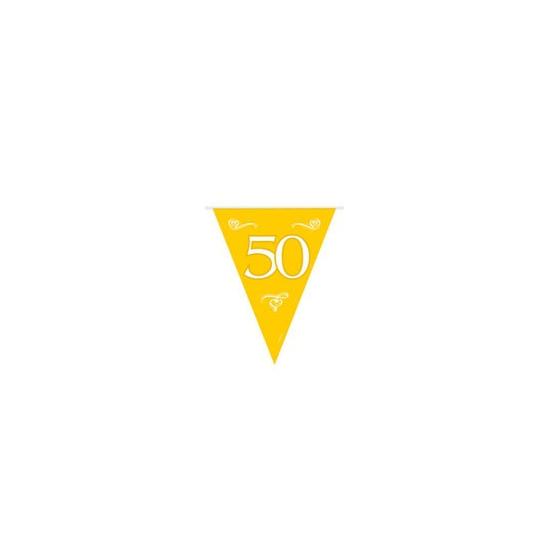 50 jaar jubileum versiering vlaggenlijn