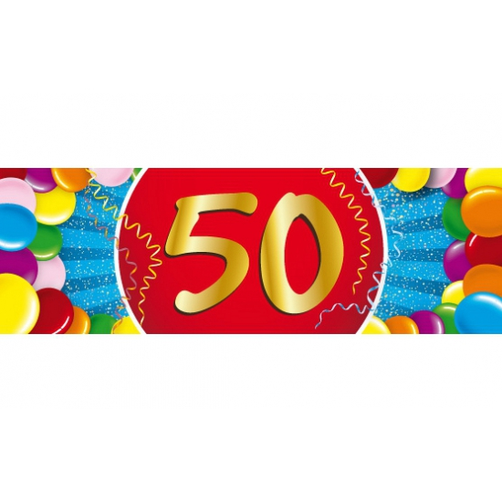 50 jaar sticker