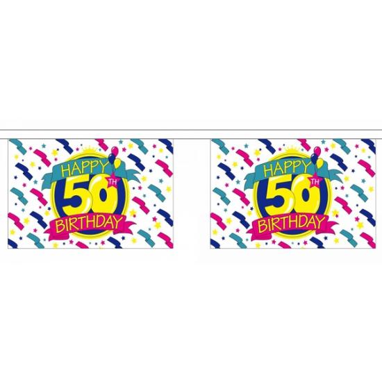 50e verjaardag luxe vlaggenlijn