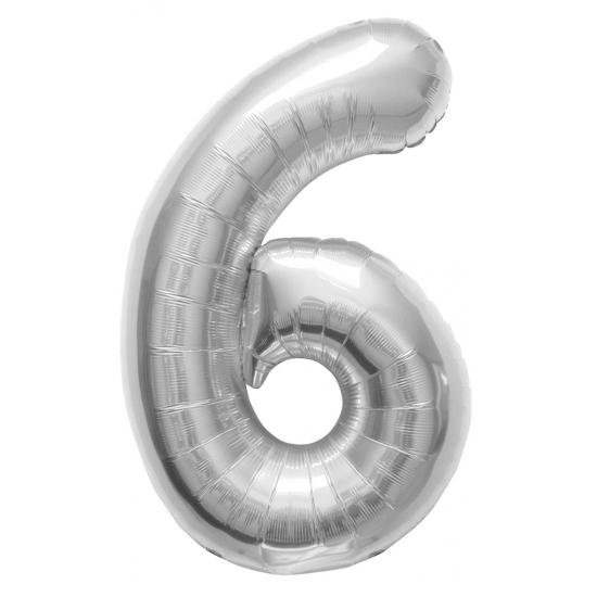 6 jaar helium ballon zilver