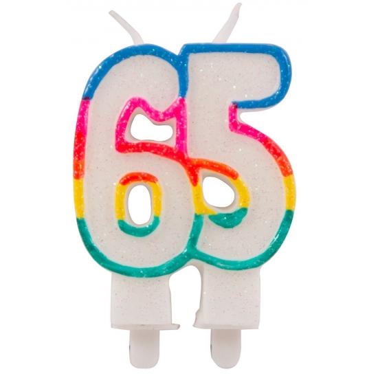 65 feest kaars