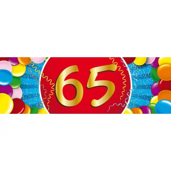 65 jaar sticker