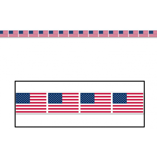 Amerikaanse vlag party tape 6 meter