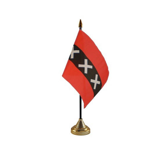 Amsterdam tafelvlaggetje inclusief standaard