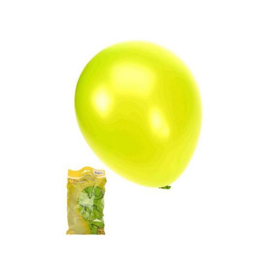 Appelgroene metallic ballonnen 50 stuks