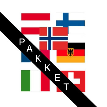 Apres ski decoratie landen stickers
