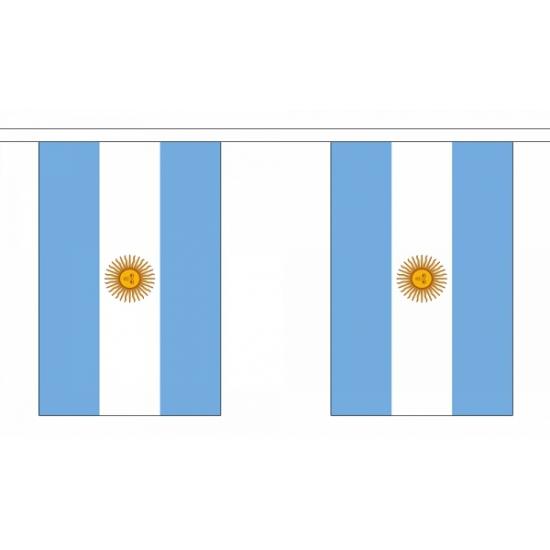 Argentijnse vlaggenlijn van 9 meter