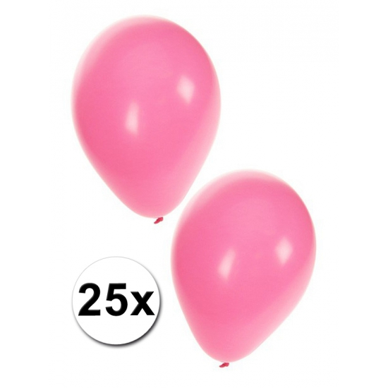 Babyshower ballonnen roze 25x