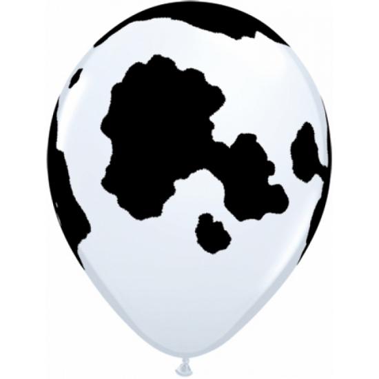 Ballon met koeien print 28 cm