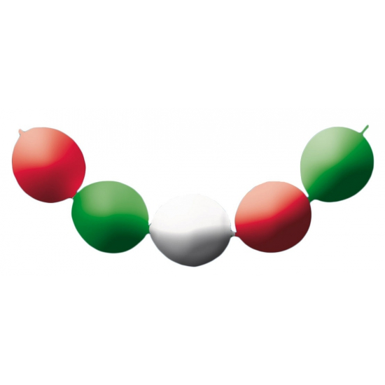 Ballon slinger groen/wit/rood