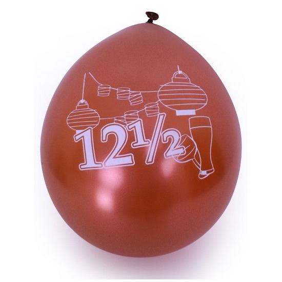 Ballonnen met 12,5 jaar print