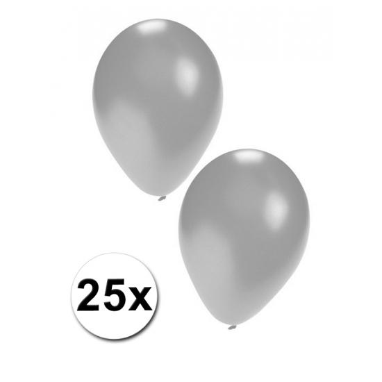 Ballonnen zilver 25x
