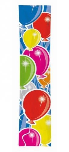 Banner met gekleurde ballonnen opdruk