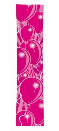 Banner met roze ballonnen opdruk