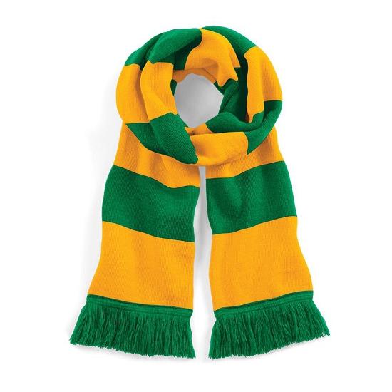 Beechfield retro sjaal groen/geel