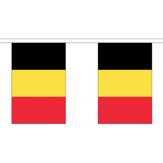 Belgie vlaggenlijn van stof 3 m