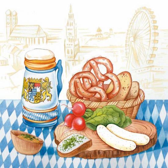 Bierfeest servetten Beieren 20 stuks