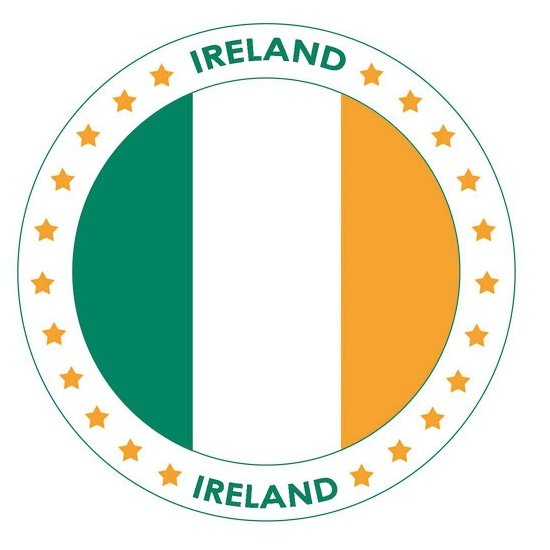 Bierviltjes Ierland thema print