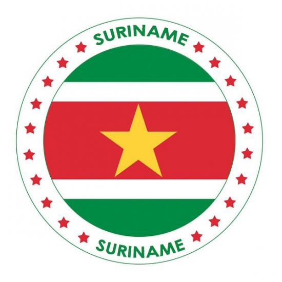 Bierviltjes Suriname thema print