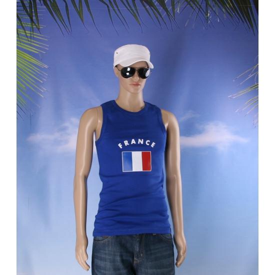 Blauw heren singlet Frankrijk