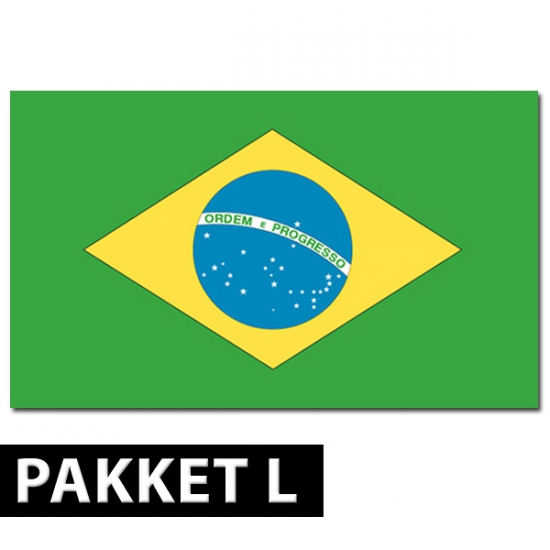 Brazilie decoratie pakket groot