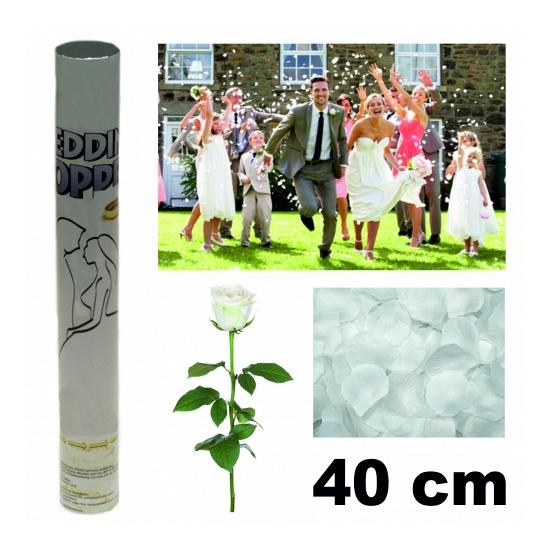 Bruiloft rozenblaadjes kanon 40 cm