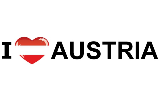 Bumper sticker I Love Austria
