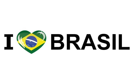 Bumper sticker I Love Brasil
